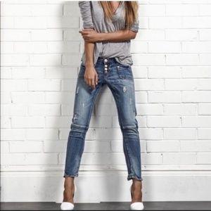 One Teaspoon Super Dupers Slim Leg Cropped Jeans